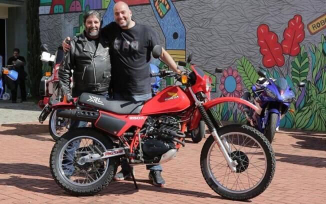 Eu, Diego Rosa e a ilustre Honda XL 250 (a