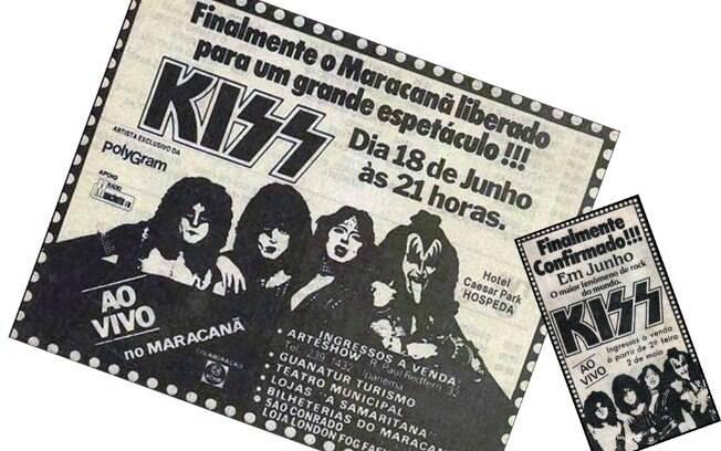 Banda KISS no Maracanã, na década de 80
