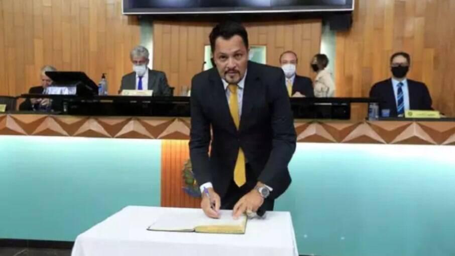 Vereador Charles Charlão teve áudio vazado durante sessão na Câmara de Uberlândia (MG)