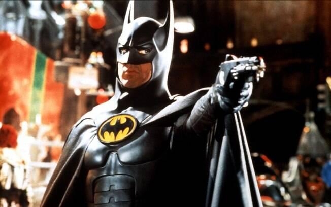 Michael Keaton como Batman: ele estrelou dois filmes de Tim Burton