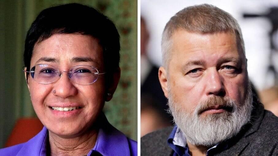 Jornalistas vencem Nobel da Paz em defesa da liberdade de imprensa
