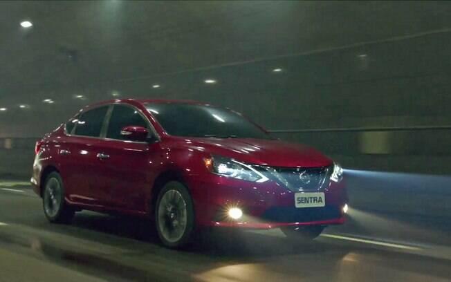 Nissan Sentra reestilizado no vídeo promocional da Nissan para os Jogos Olímpicos Rio 2016.