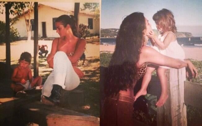 Luiza Brunet relembra a infância de Yasmin Brunet