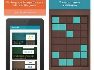 Lumosity é programa de treinamento cerebral que pode ser feito na web ou nos aplicativos para Android e iOS. Gratuito, o app ajuda o usuário a ativar áreas do cérebro