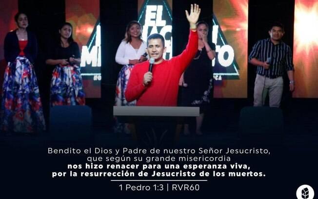 Érick Súñiga começou a se apresentar como pastor e líder de sua própria igreja em 2012.