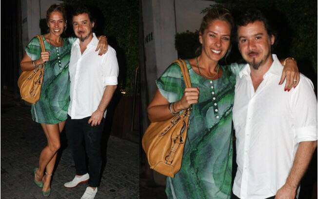 Adriane Galisteu e Alexandre Iódice jantaram em restaurante em São Paulo nessa terça-feira (14)