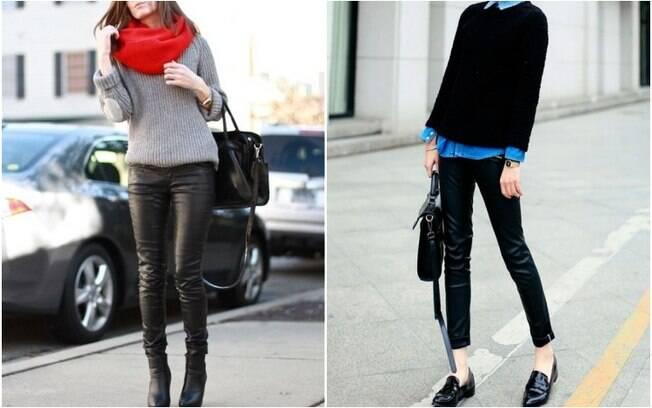 Para um look mais sério, uma ideia é combiná-las com suéteres, camisas, botas ou mules