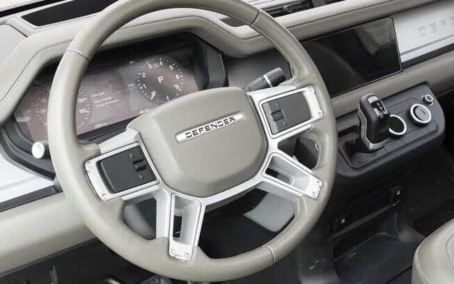 Eis a maior revelação do Land Rover Defender até agora. No interior estão equipamentos e design de última geração