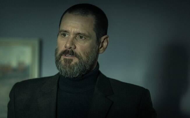 Jim Carrey em cena de Crimes Obscuros