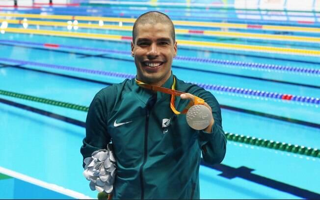 Daniel Dias conquista a prata nos 100m peito SB4