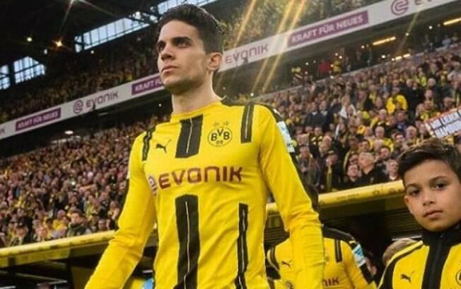 Marc Bartra, zagueiro do Borussia Dortmund, se feriu no ataque com bombas ao ônibus do time na última terça-feira