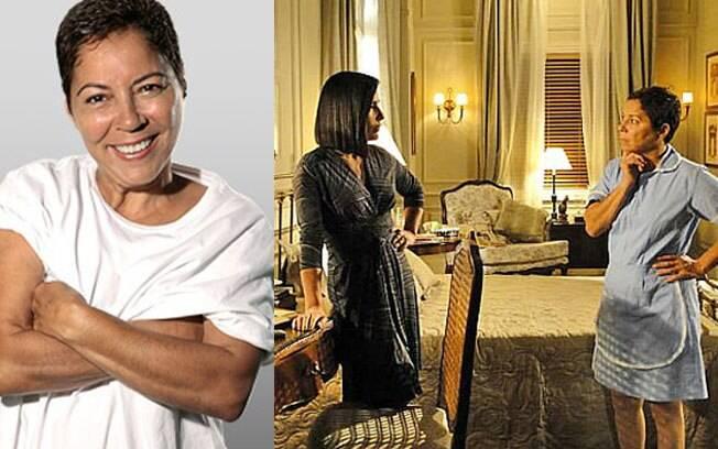 Cristina Galvão como Jandira, atuando com Glória Pires em