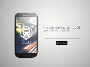 Banner do aplicativo Metrô BH.