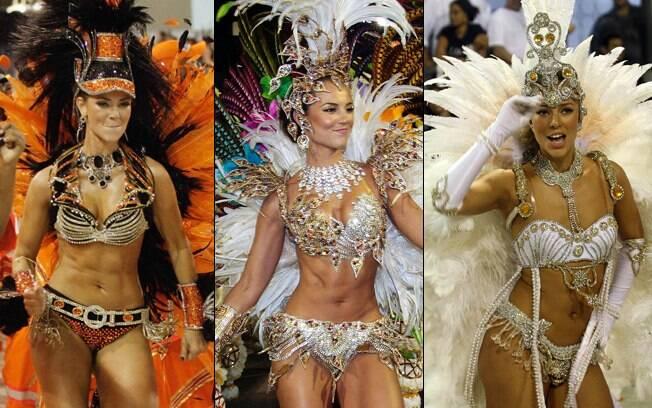Paola Oliveira costumava desfilar pela Grande Rio