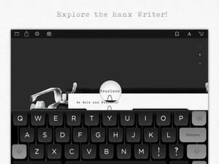 Disponível para iPad, da Apple, Hanx Writer é um aplicativo que simula uma máquina de escrever que foi criado pelo ator Tom Hanks, um saudosista
