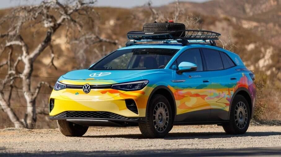 VW ID.4 AWD Pro, que está no Rally Rebelle, nos Estados Unidos