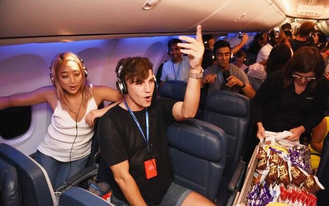 Companhia aérea promoveu uma balada silenciosa para passageiros