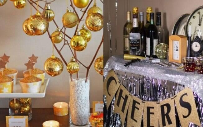 Na mesa, você pode ousar e fazer algo temático, ou deixar mais simples e elegante usando parte da decoração de Natal