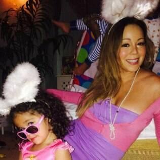 Mariah Carey em clima de páscoa com a família