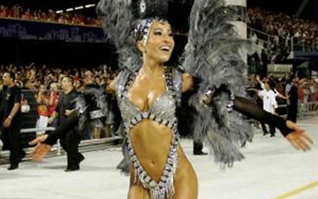 Sabrina Sato, em desfile da Gaviões da Fiel