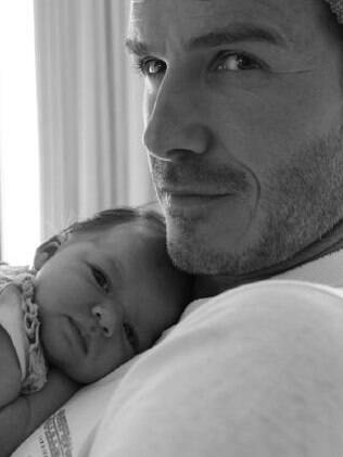 David Beckham com a pequena Harper Seven