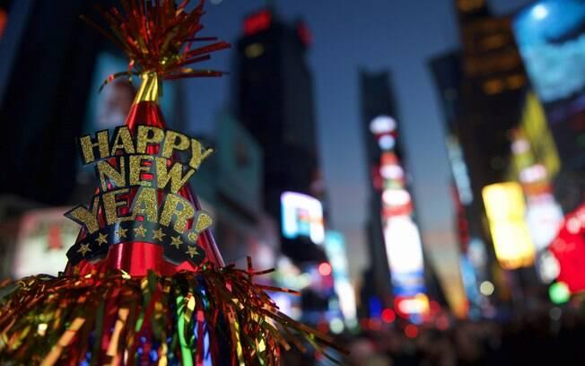 A comemoração de Ano Novo em Nova York é uma das mais concorridas no mundo