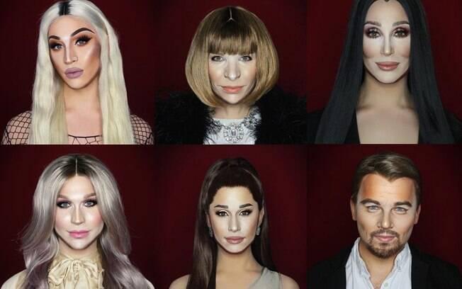 A drag queen britânica Alexis Stone mostra suas habilidades com maquiagem nas redes sociais