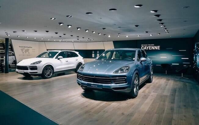 Porsche Cayenne mostrado no estande da marca no Salão de Frankfurt, na Alemanha