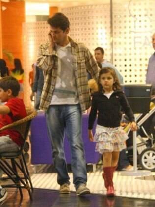Narcelo Serrado e a filha, Catarina