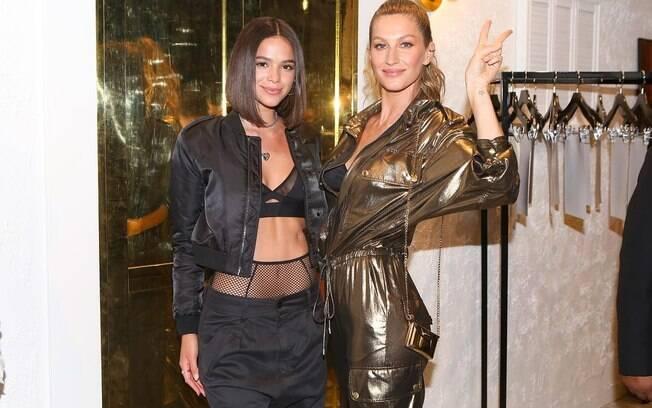Gisele Bündchen e Bruna Marquezine aparecem juntas em evento em Los Angeles e são elogiadas nas redes sociais