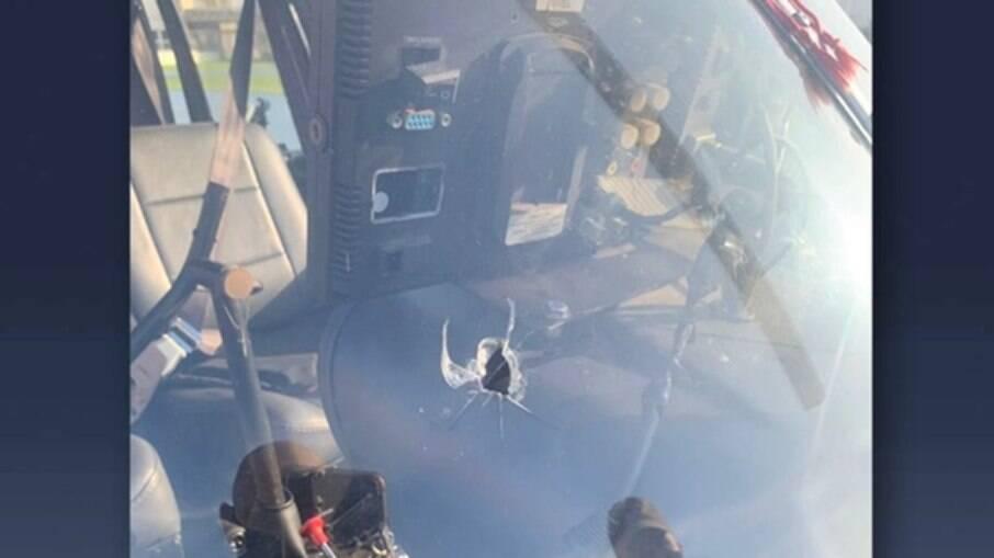 Helicóptero baleado em confranto na Mangueira