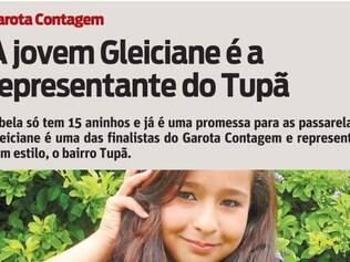 A bela só tem 15 aninhos e já é uma promessa para as passarelas. Gleiciane é uma das finalistas do Garota Contagem e representa, com estilo, o bairro Tupã.