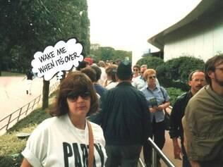 Ana Franco, no Epcot, em 1986: uma das dicas da ex-guia é evitar meses de
