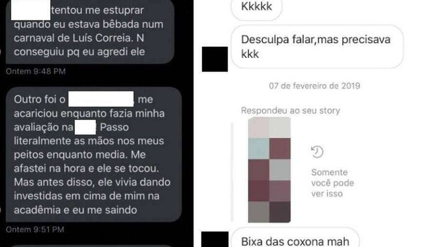 Vítimas denunciando os crimes nas redes sociais