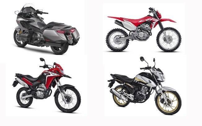 GL 1800 Gold Wing, CRF 250F, XRE 300 e CG 160 Titan SE são as demais novidades entre as motos Honda 2019