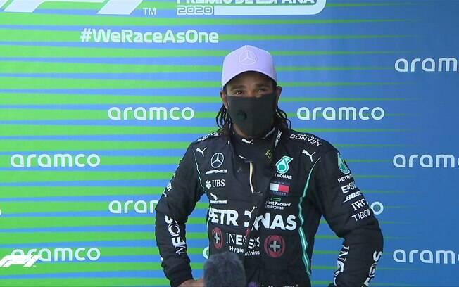 Hamilton após a vitória