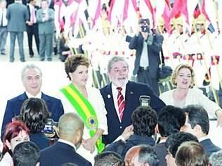 Lula passou faixa para Dilma na posse do primeiro mandato