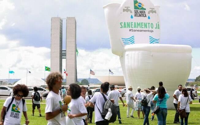 Segundo a SOS Mata Atlântica, a mobilização visa chamar a atenção da sociedade e autoridades para a importância da água
