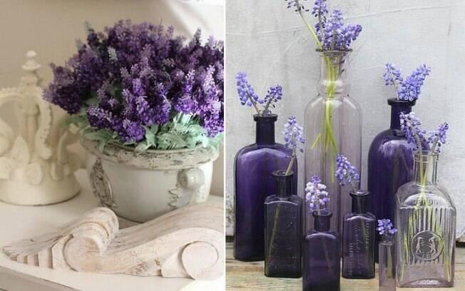 Flores como a lavanda e a violeta também podem dar um toque mais discreto de 'Ultra Violet' ao ambiente