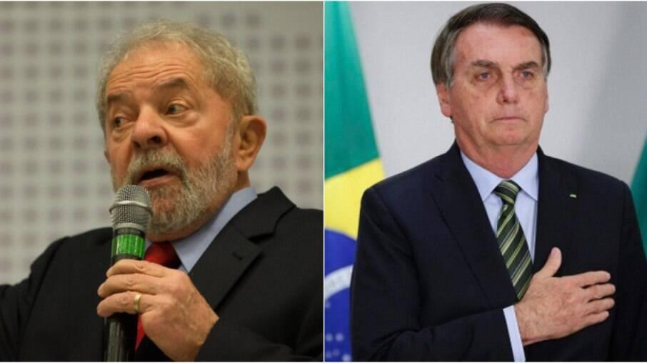 Ex-presidente Lula (PT) e presidente Jair Bolsonaro (sem partido)
