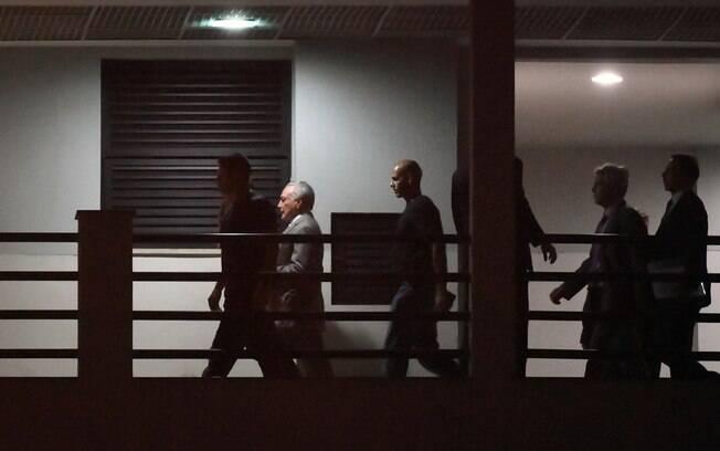 Ex-presidente Michel Temer está preso na Superintendência Regional da PF no Rio de Janeiro
