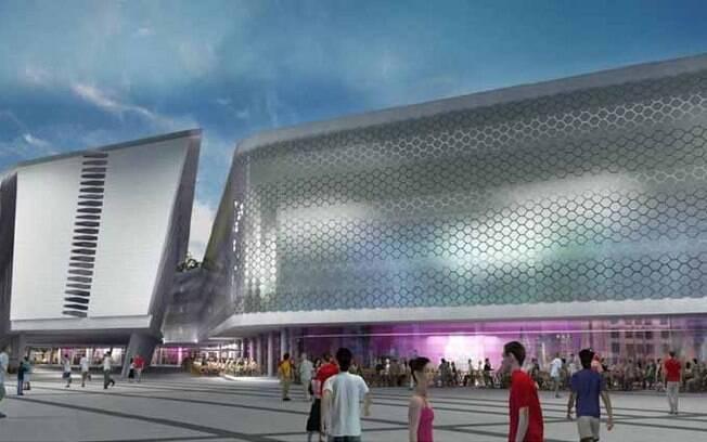 Visual moderno de como pode ficar o novo  Complexo do Maracanã