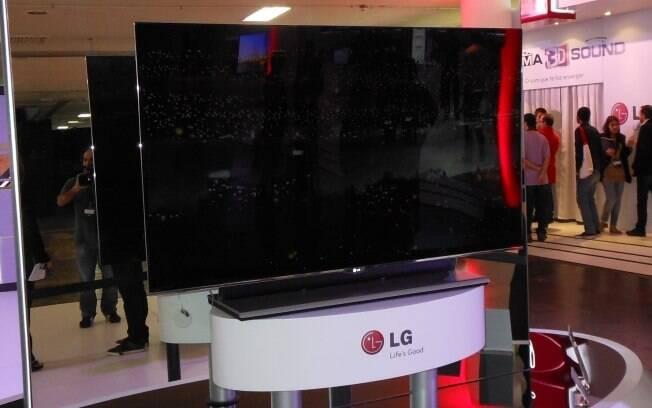 TV de OLED com 55 polegadas da LG deve chegar em breve ao Brasil