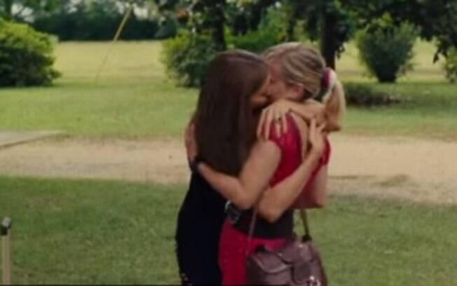 Beijo quente lesbico