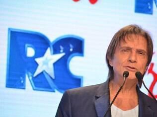 Roberto Carlos em evento da Friboi