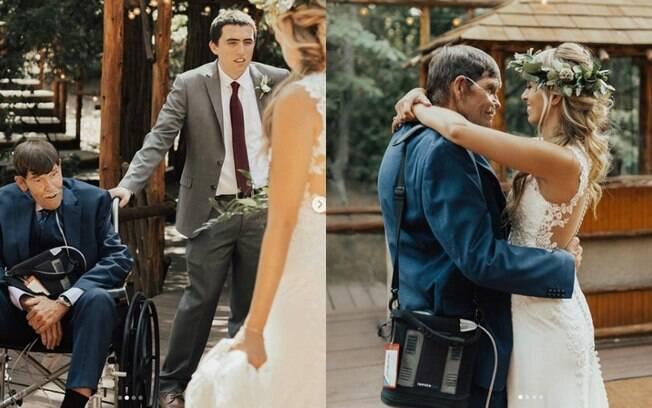 A noiva Vanessa Wickham fez um relato emocionante falando sobre a importância de ter a presença do pai no casamento