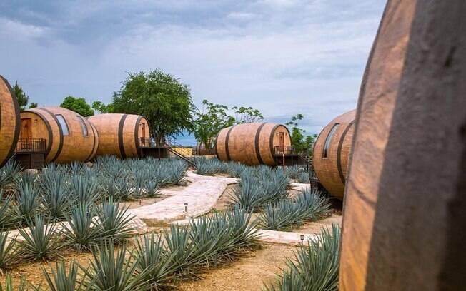 Hospedar-se num barril de tequila não é mais um sonho remoto para quem gosta de experiências únicas