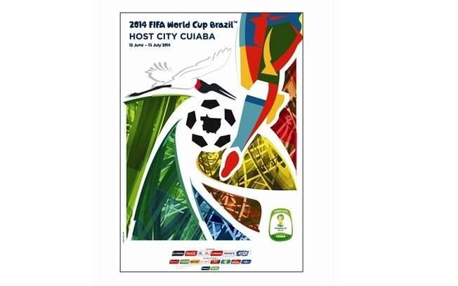 Cuiabá-MT - Pôster oficial da Copa do Mundo  de 2014