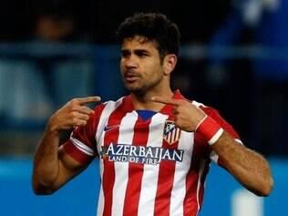Diego Costa deu susto na torcida em choque com a trave, porém,  clube do Atlético de Madri já descartou uma contusão mais grave