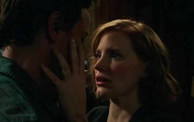 James McAvoy e Jessica Chastain em cena de